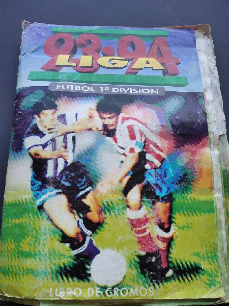 Album cromos liga fútbol 93-94