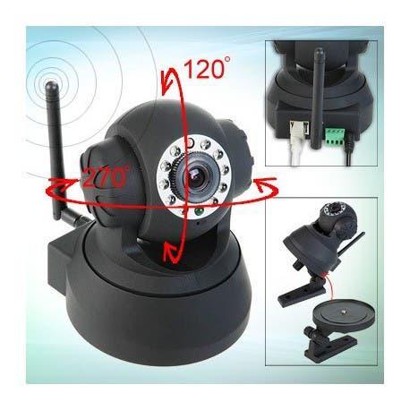 Camara p2p con deteccion movimiento y sirena