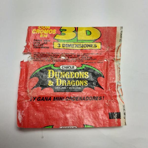 Envoltorio chicle 3d dragones y mazmorras dungeons