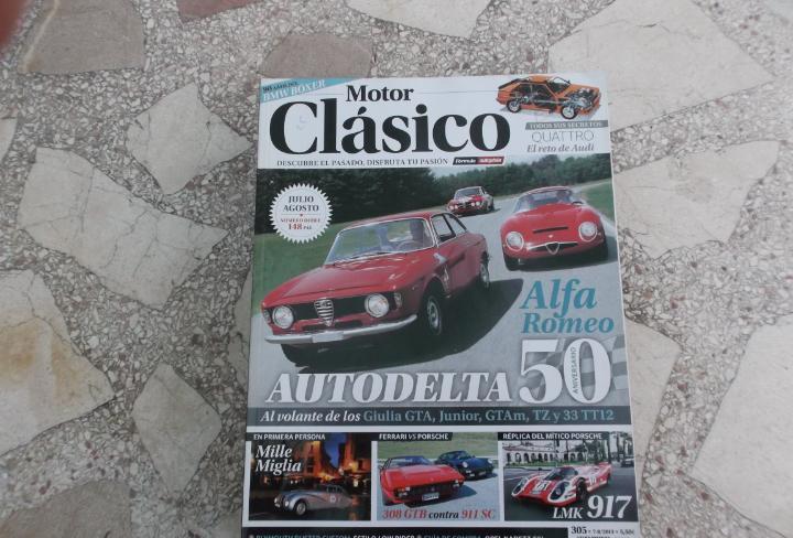 Motor clasico nº 305, audi quattro, 50 aniversario alfa