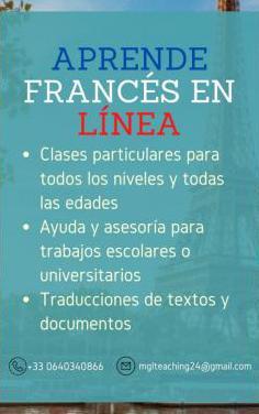 Clases particulares de francés online