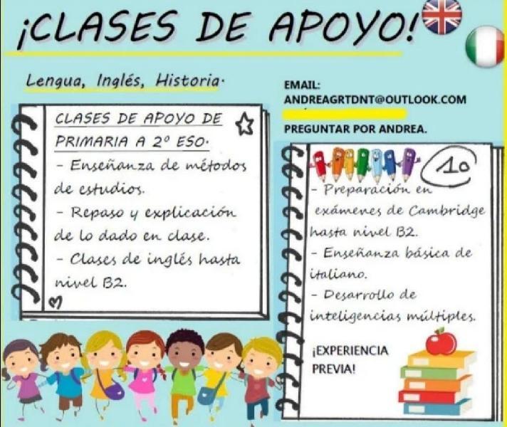 Clases de apoyo / clases particulares / profesor