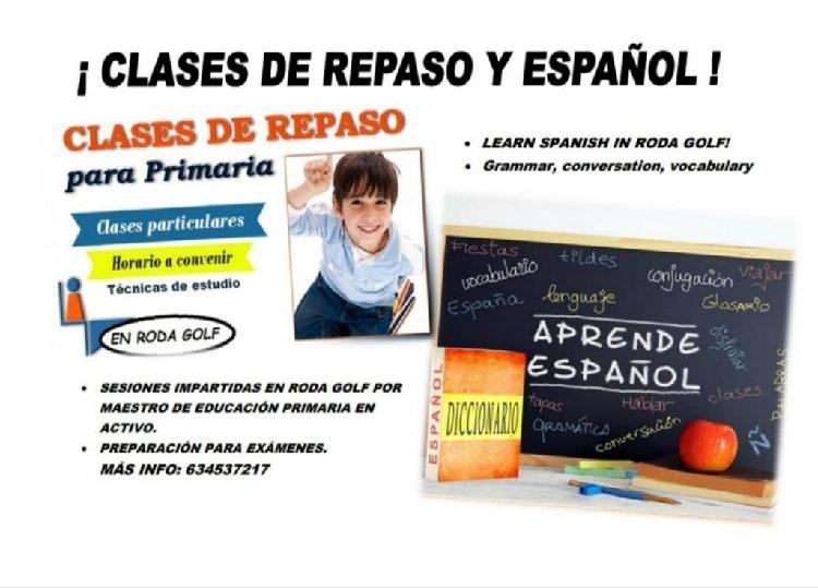 Clases de refuerzo de educación primaria