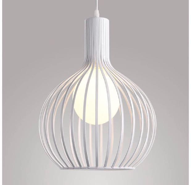 Lámpara colgante de jaula industrial vintage