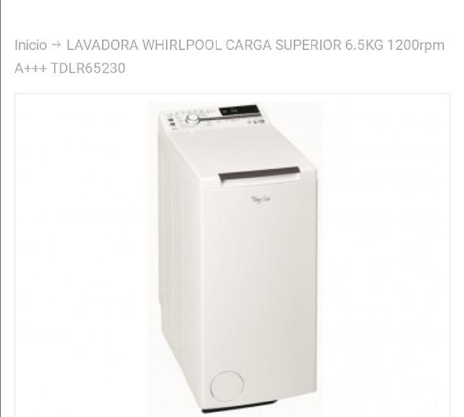 Oferta lavadora carga superior
