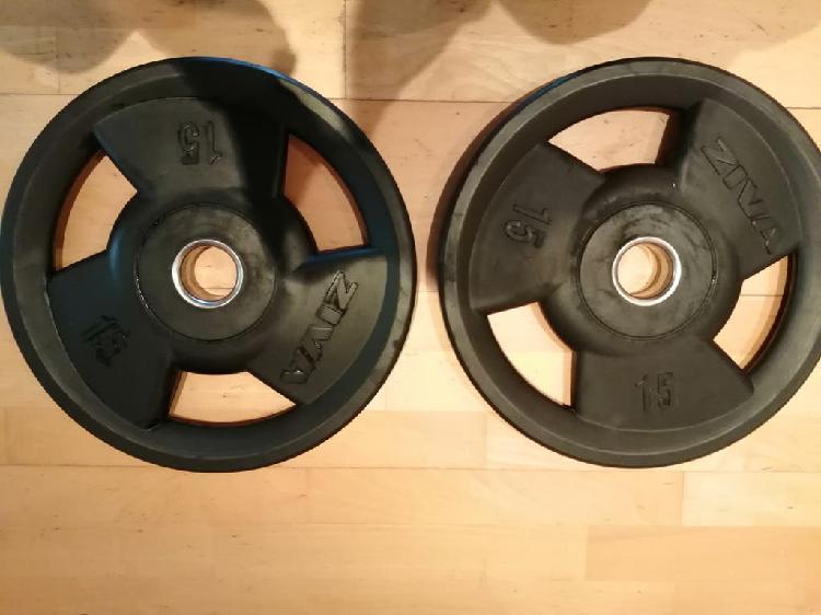Par de discos musculación ziva (15 kg)
