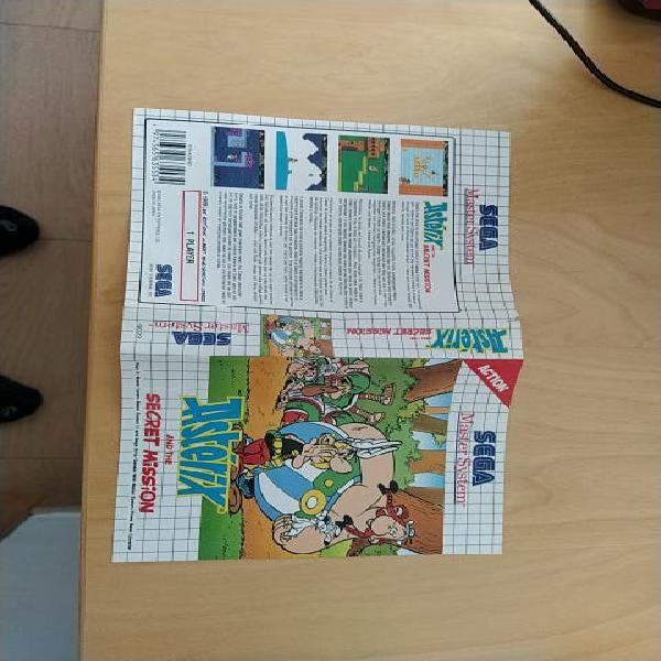 Portada asterix máster system sega
