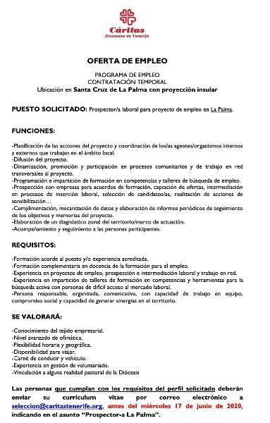 Prospector/a laboral