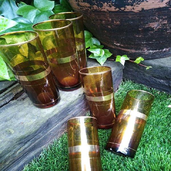 Vasos tubo cristal vintage
