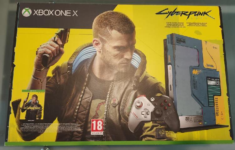 Xbox one x edición limitada cyberpunk 2077