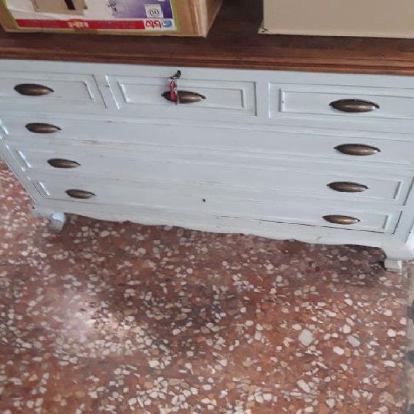 Baúl madera vintage tapa abatible