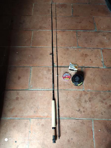 Caña de pescar mosca fly 100