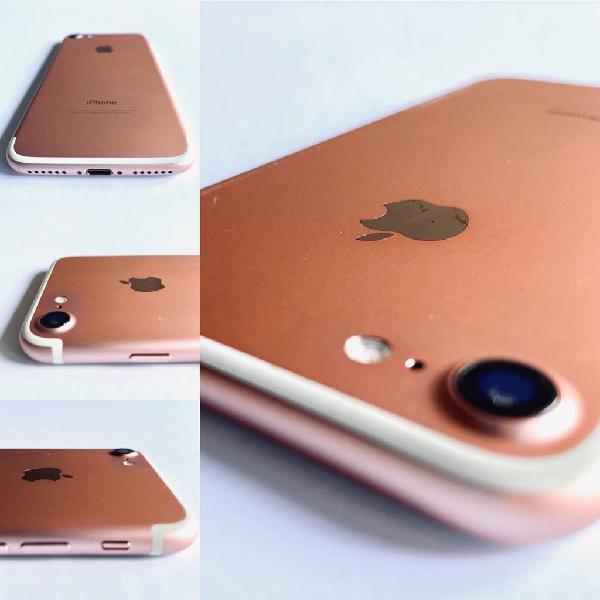 Iphone 7 128gb rosa 1 año de garantía!!