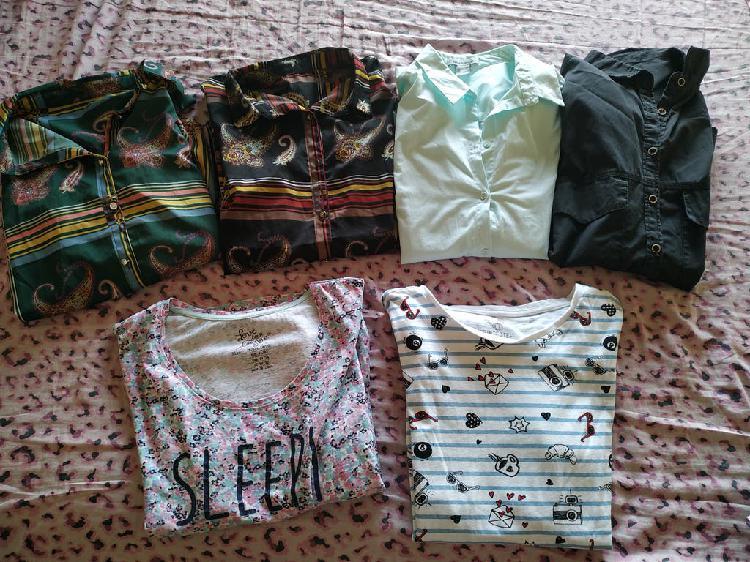 Pack camisas y camisetas