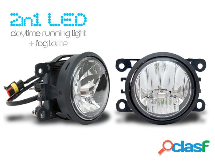 Luces de cruce de día led & faros antiniebla led 2 in 1 - direct fit!
