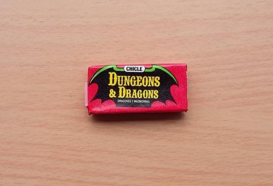 Chicle envoltorio dragones y mazmorras 1985 nuevo