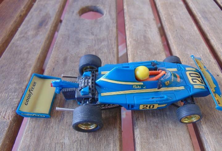 Coche de pista de scalextric exin ferrari b3 f 1 color azul