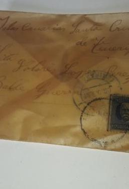 Carta antigua cuba / tenerife 1920
