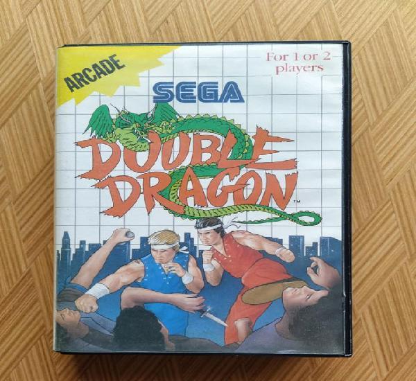 Completo double dragon master system pal con caja y manual