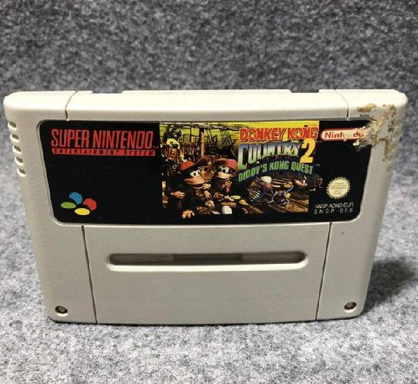 Donkey kong country 2 diddys kong quest super nintendo snes