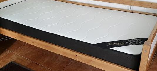 Estructura de cama de 90 cms con colchón