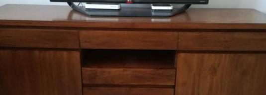 Mueble tv madera teca banak importa