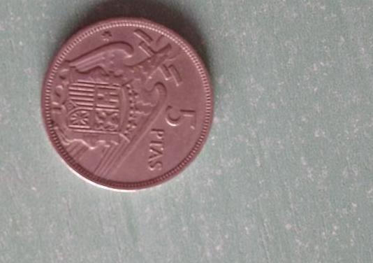 Moneda 5 pesetas franco de 1957