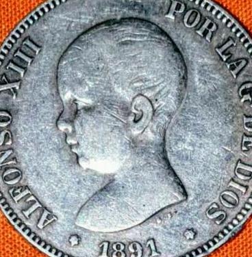 Moneda de 5 ptas. alfonso xiii 1991