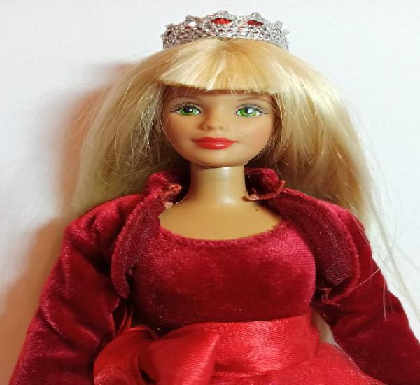 Muñeca coleccion nº135 barbie very velvet terciopelo rojo