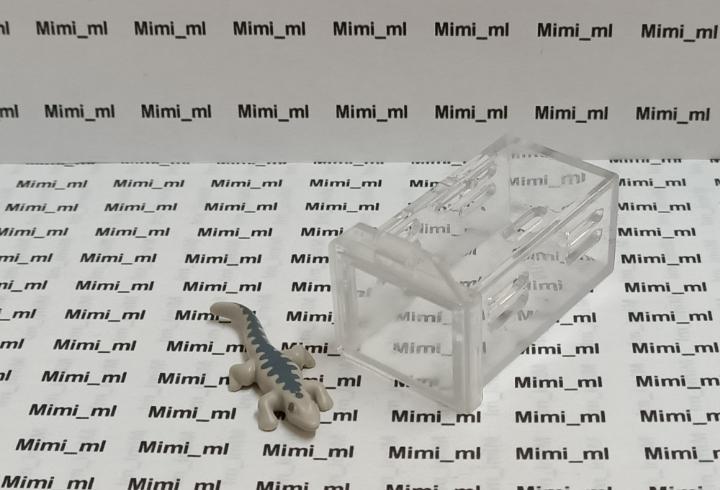Playmobil lagarto con urna cristal caja con tapa dinosaurios