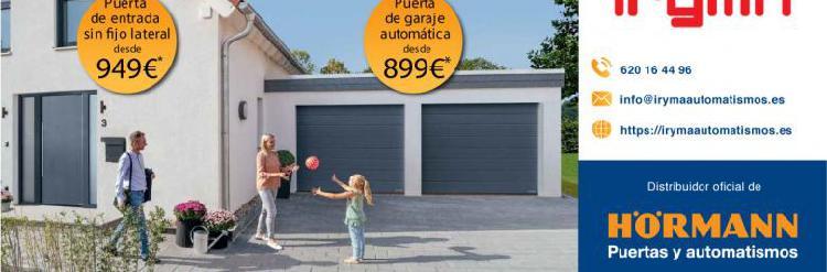 Puertas de entrada y garaje automáticas