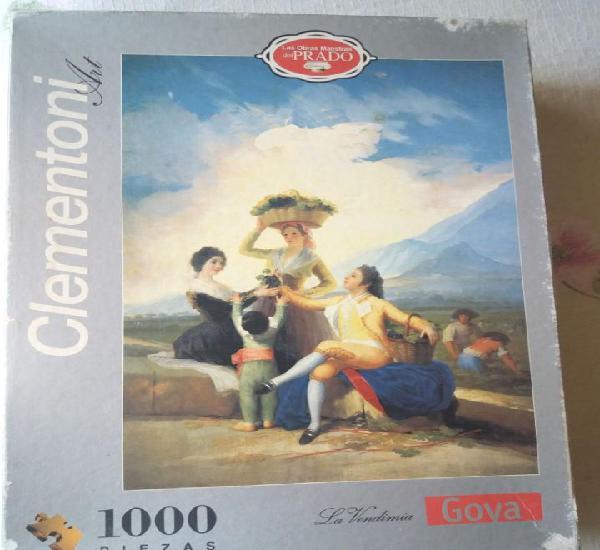 Puzzle 1000 fichas, usado, completo y acabado - la vendimia