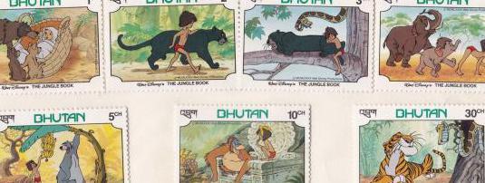 Sellos bhutan - libro de la selva