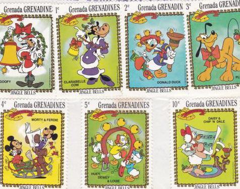 Sellos grenada - grenadines - jingle bells
