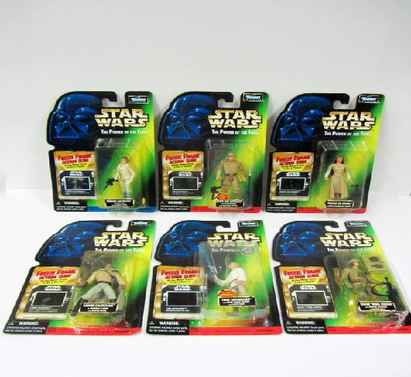 Star wars lote potf freeze frame set de 6 blisters