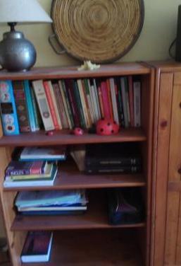 Conjunto muebles madera salón