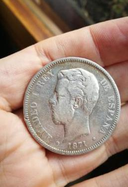 Duro de plata amadeo i 1871