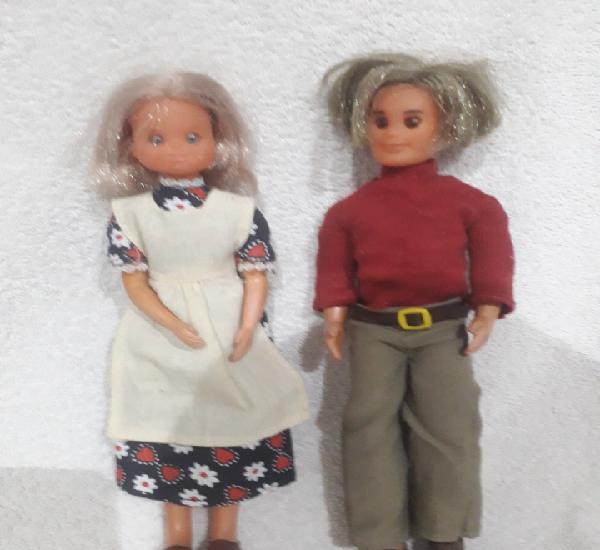 Papá y mama de familia feliz de mattel made in spain año
