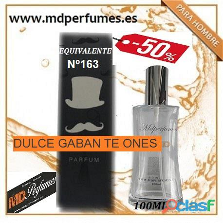 Oferta perfume hombre nº163 dulce gaban te ones alta gama 100ml 10€
