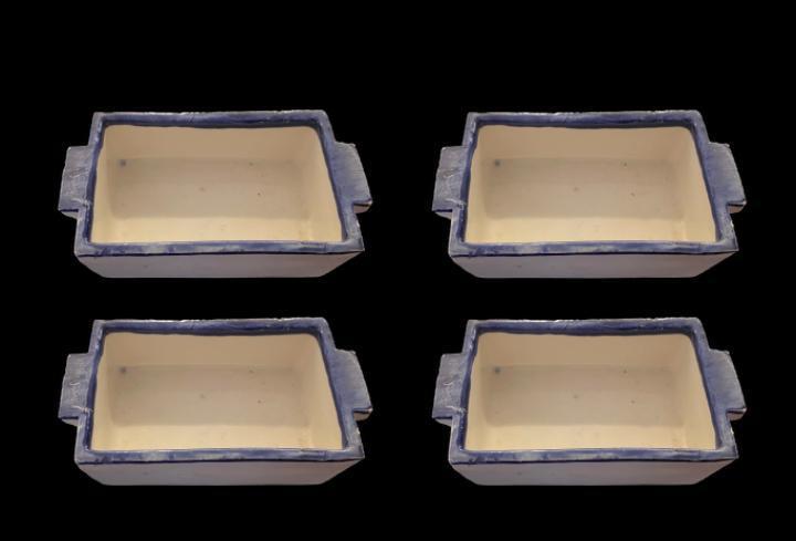 Bandejas de cerámica de entremeses, impecables
