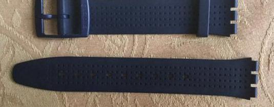 Correa caucho azul swatch vintage