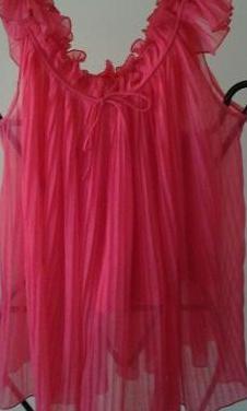 Camisón rosa con fucsia con culotte