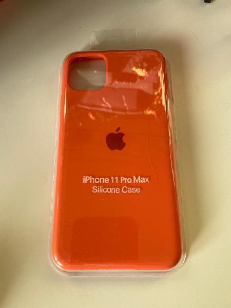 Carcasa silicona iphone 11 pro max naranja