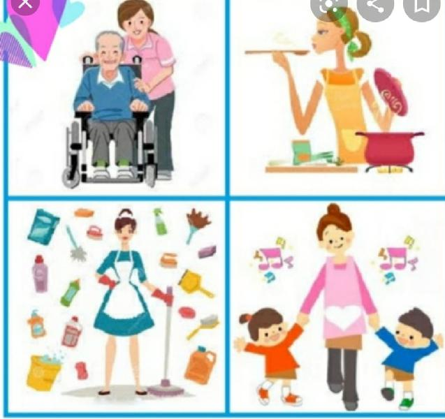Cuidado de niños y personas mayores