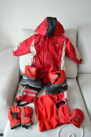 Equipo completo de esquí para niño/a de 4 años