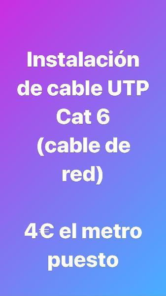 Instalaciones de cable utp cat 6