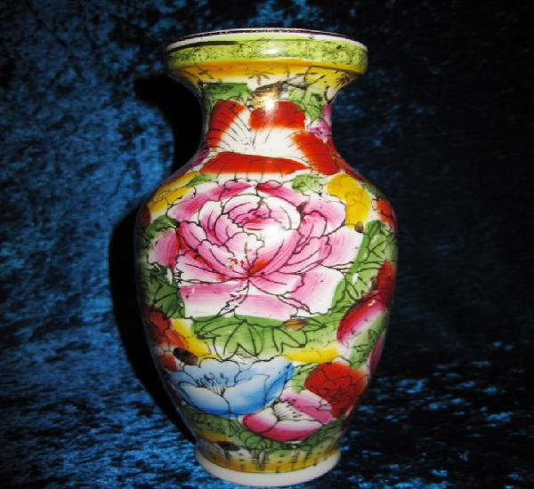 Jarrón porcelana estilo macao