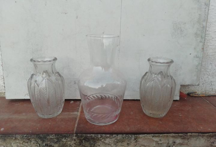 Lote cristal antiguo