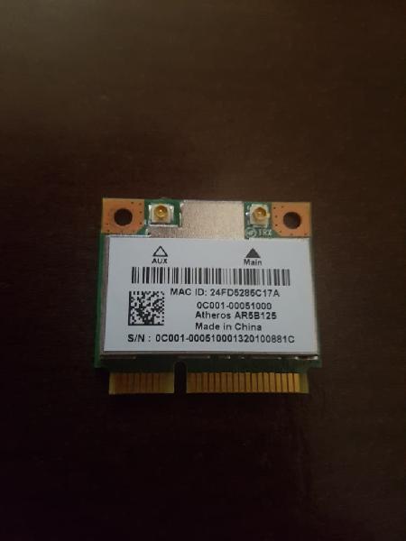 Tarjera wifi mini pcie Atheros AR5B125 150 Mbps.