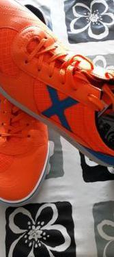 Zapatillas munich g-3 naranja flúor y azul